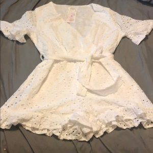 Pink lily ruffle romper ***** NEW